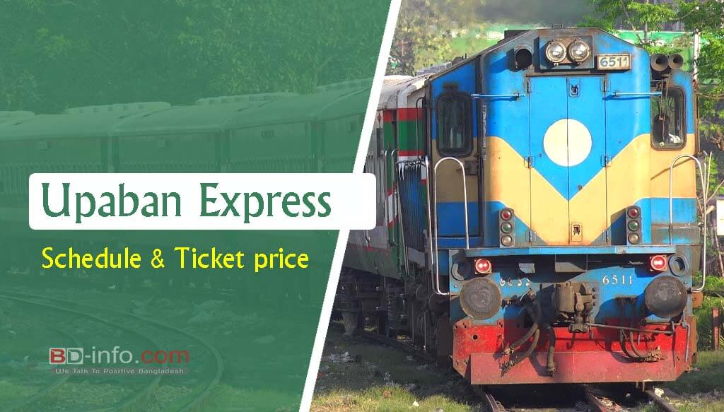 Upaban Express Dhaka to Sylhet Train