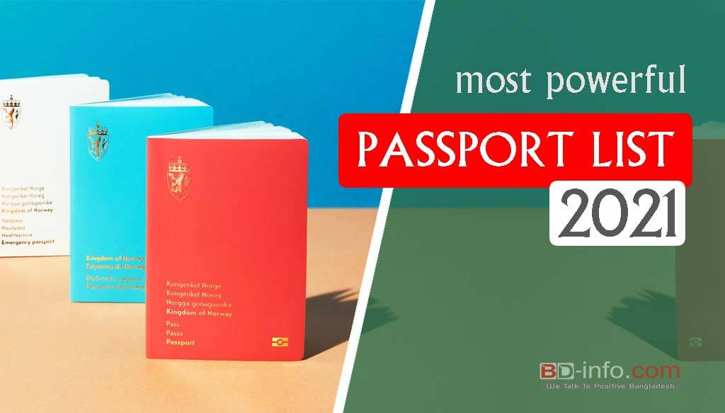 Most Powerful Passport List